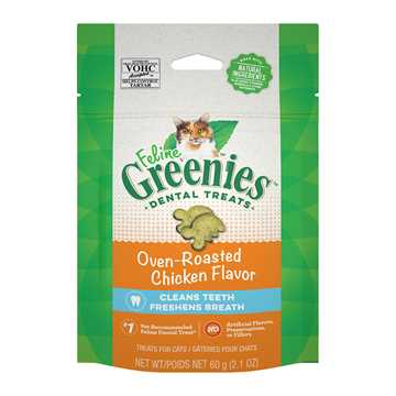 Picture of GREENIE FELINE DENTAL TREAT Oven Roasted Chicken - 2.1oz / 60g