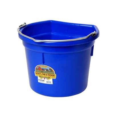 Picture of BUCKET PLASTIC FLATBACK 22 QUART -  BLUE
