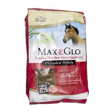Picture of MAX- E- GLO RICE BRAN HORSE SUPPLEMENT PELLETS - 40lb