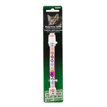 Picture of COLLAR CAT SNAG FREE BREAK AWAY Adj - Crown Diamond(tu)