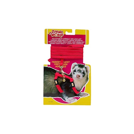 Picture of FERRET HARNESS & LEAD SET Living World (60860) - Red