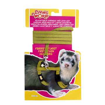 Picture of FERRET HARNESS & LEAD SET Living World (60862) - Green