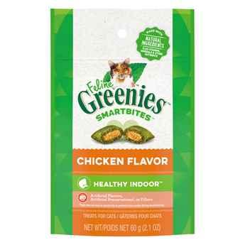 Picture of GREENIE FELINE TREAT SMARTBITES Hairball Control Chicken- 2.1oz / 60g