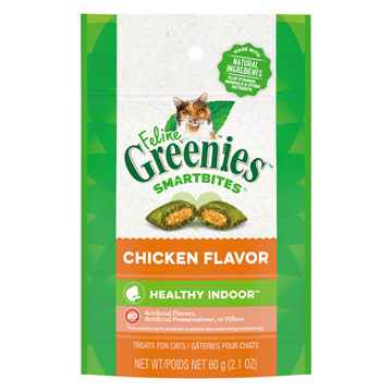 Picture of GREENIE FELINE TREAT SMARTBITES Hairball Control Chicken- 2.1oz / 60g