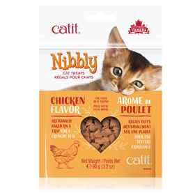 Picture of CATIT NIBBLY FELINE TREATS Chicken Flavor - 90g