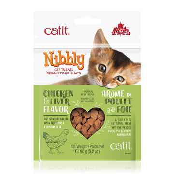 Picture of CATIT NIBBLY FELINE TREATS Chicken & Liver Flavor - 90g