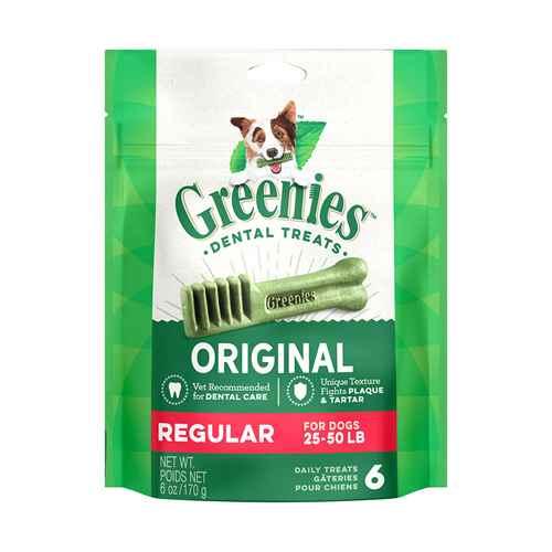 Picture of GREENIE CANINE DENTAL TREAT ORIGINAL 6oz  MINI PAK Regular - 6/bag
