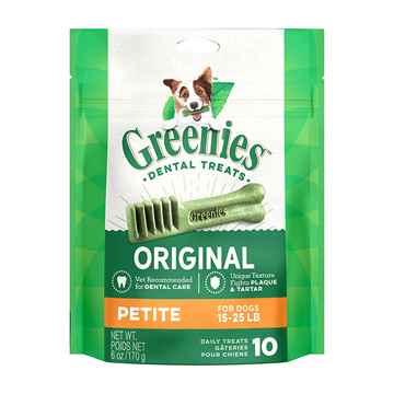 Picture of GREENIE CANINE DENTAL TREAT ORIGINAL 6oz  MINI PAK Petite - 10/bag