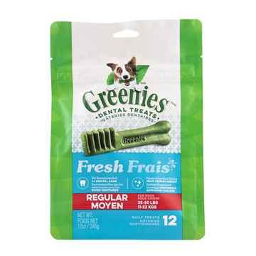 Picture of GREENIE CANINE DENTAL TREAT FRESHMINT 12oz  Regular - 12/bag