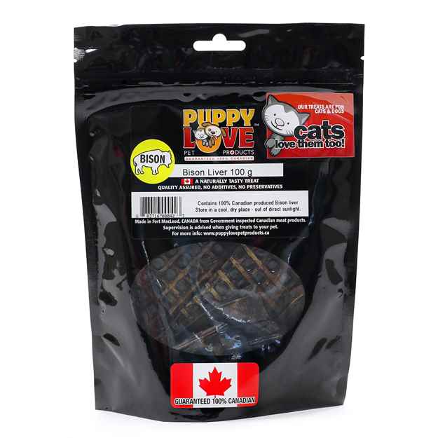 Picture of TREAT CANINE PUPPY LOVE BISON LIVER - 120g