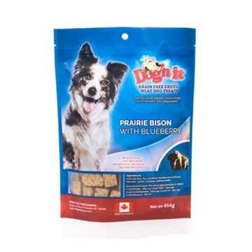 Picture of TREAT CANINE DOG'N IT EXOTIC Bison & Blueberry - 454g