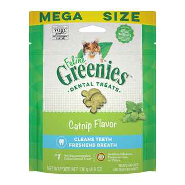Picture of GREENIE FELINE DENTAL TREAT Catnip Flavor - 4.6oz