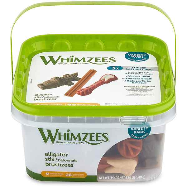 Picture of TREAT CANINE Whimzees Variety Pack Medium  - 28/pc