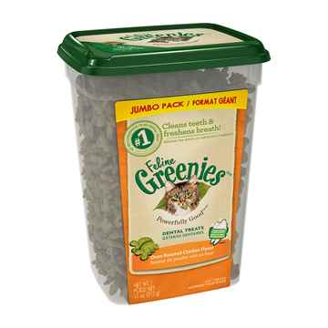 Picture of GREENIE FELINE TREAT Oven Roasted Chicken - 11oz tub