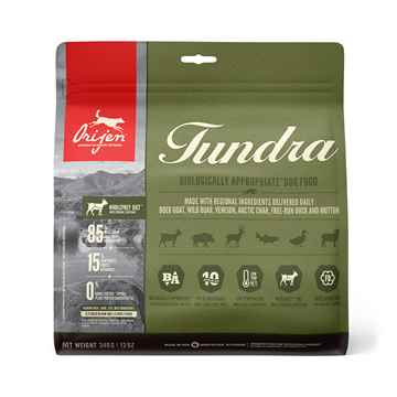 Picture of CANINE ORIJEN TUNDRA Dry Food TRIAL SIZE - 340g