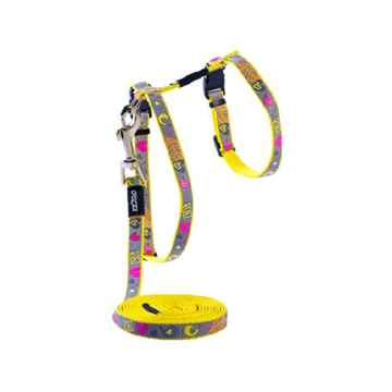 Picture of LEAD AND HARNESS COMBO ROGZ REFLECTOCAT Small Cat- Dayglo Bird(tu)
