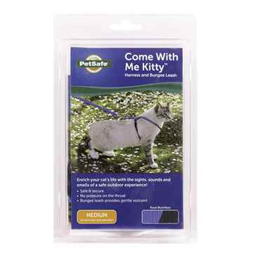 Picture of LEAD AND HARNESS COMBO PETSAFE Medium Cat- Royal Blue