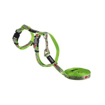 Picture of LEAD AND HARNESS COMBO ROGZ REFLECTOCAT X Small Cat - Lime Fish