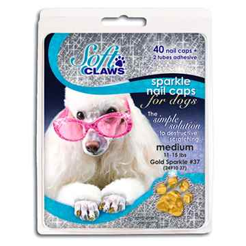 Picture of SOFT CLAWS TAKE HOME KIT CANINE MEDIUM - Gold Sparkle