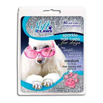 Picture of SOFT CLAWS TAKE HOME KIT CANINE MEDIUM - Pink Sparkle