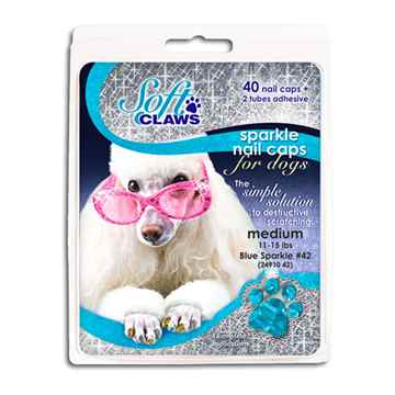 Picture of SOFT CLAWS TAKE HOME KIT CANINE MEDIUM - Blue Sparkle
