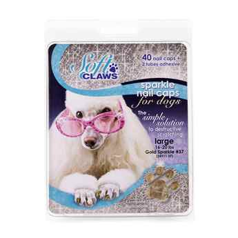 Picture of SOFT CLAWS TAKE HOME KIT CANINE LARGE - Gold Sparkle