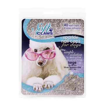 Picture of SOFT CLAWS TAKE HOME KIT CANINE LARGE - Silver Sparkle
