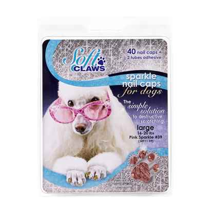 Picture of SOFT CLAWS TAKE HOME KIT CANINE LARGE - Pink Sparkle