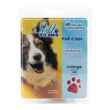 Picture of SOFT CLAWS TAKE HOME KIT CANINE XXLARGE - Red