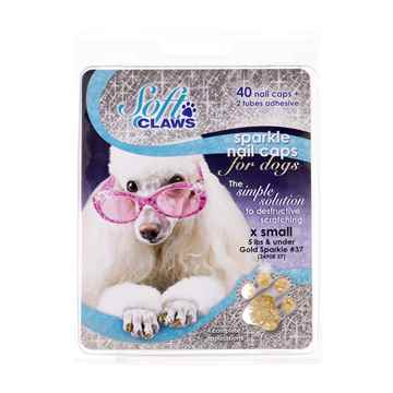 Picture of SOFT CLAWS TAKE HOME KIT CANINE X-SMALL - Gold Sparkle