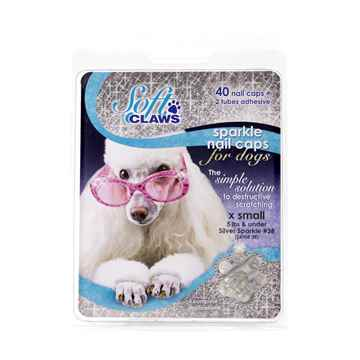 Picture of SOFT CLAWS TAKE HOME KIT CANINE X-SMALL - Silver Sparkle