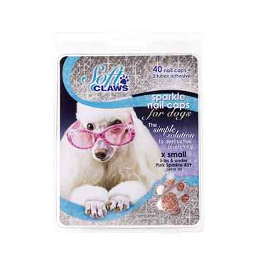 Picture of SOFT CLAWS TAKE HOME KIT CANINE X-SMALL - Pink Sparkle