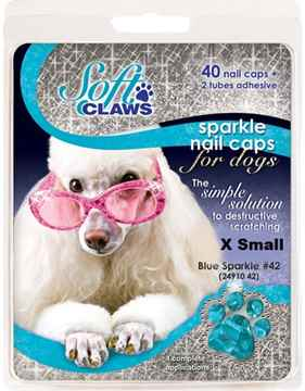 Picture of SOFT CLAWS TAKE HOME KIT CANINE X-SMALL - Blue Sparkle