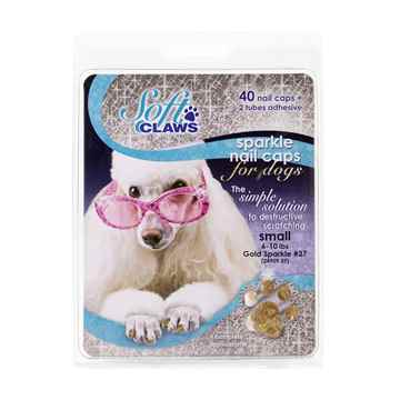 Picture of SOFT CLAWS TAKE HOME KIT CANINE SMALL - Gold Sparkle