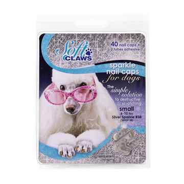 Picture of SOFT CLAWS TAKE HOME KIT CANINE SMALL - Silver Sparkle