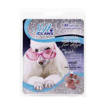 Picture of SOFT CLAWS TAKE HOME KIT CANINE SMALL - Pink Sparkle