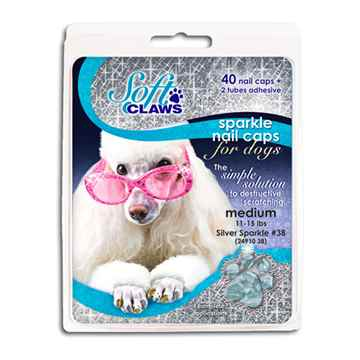 Picture of SOFT CLAWS TAKE HOME KIT CANINE MEDIUM - Silver Sparkle