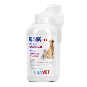 Picture of UBAVET UBAMEG OMEGA 3 FATTY ACID LIQUID with PUMP - 237ml