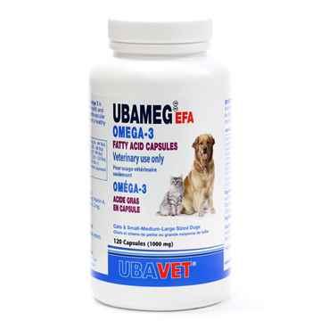 Picture of UBAVET UBAMEG OMEGA 3 FATTY ACID 1000mg CAPS - 120's