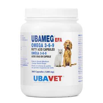 Picture of UBAVET OMEGA 3-6-9 FATTY ACID CAPS - 360's