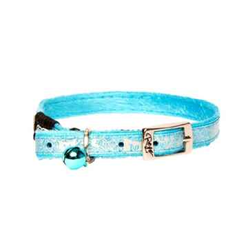 Picture of COLLAR ROGZ  SAFETY PIN BUCKLE SPARKLECAT - Turquoise(tu)