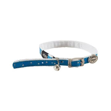 Picture of COLLAR ROGZ SAFETY PIN BUCKLE TRENDYCAT - Blue