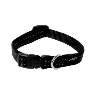 Picture of COLLAR ROGZ UTILITY SNAKE Black - 5/8in x 10-16in