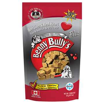 Picture of TREAT FELINE BENNY BULLY'S PLUS Beef Liver & Beef Hearts  - 25g
