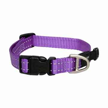 Picture of COLLAR ROGZ UTILITY NITELIFE Purple - 3/8in x 8-13in(tu)