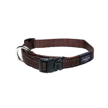 Picture of COLLAR ROGZ UTILITY LUMBERJACK Chocolate - 1in x 17-29in