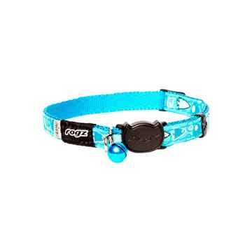 Picture of COLLAR ROGZ BREAK AWAY FANCYCAT - Turquoise Bubble Fish(tu)