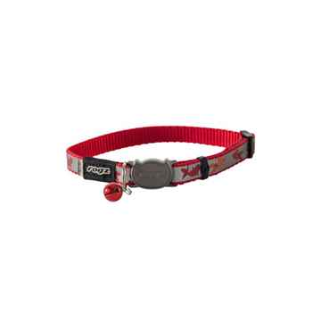 Picture of COLLAR ROGZ BREAK AWAY REFLECTOCAT SMALL - Red Fish