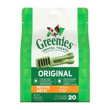 Picture of GREENIE CANINE DENTAL TREAT ORIGINAL 12oz  PAK Petite - 20/bag