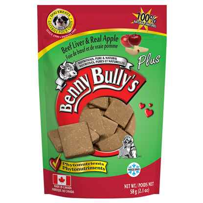 Picture of TREAT BEEF LIVER PLUS APPLE Benny Bullys - 58g